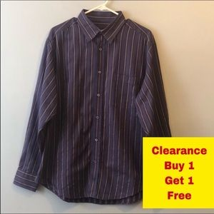 "Bugatchi Button Down Shirt Neck 16-16.5"" Large"